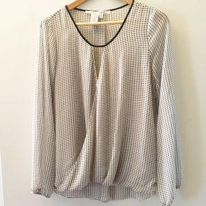Max Studio hi-low cross front blouse